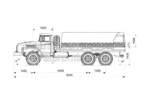 Бортовой автомобиль Урал-4320-0911-60 (Код модели: 5302)