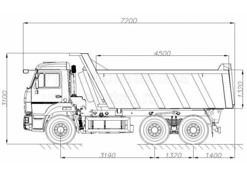 Самосвал КамАЗ 65115 (58311E) (Код модели: 1118)
