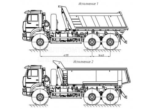 Самосвал КамАЗ 65222 (58311H) (Код модели: 1121)