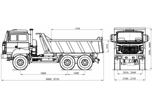 Самосвал Урал 55571 объем кузова 12 куб.м. (58312G) (Код модели: 1109)