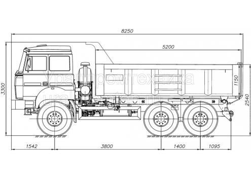 Самосвал Урал 55571 кузов 12 куб.м. (58312G) (Код модели: 1108)