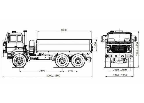 Самосвал с боковой разгрузкой Урал 55571 (58312M) (Код модели: 1204)