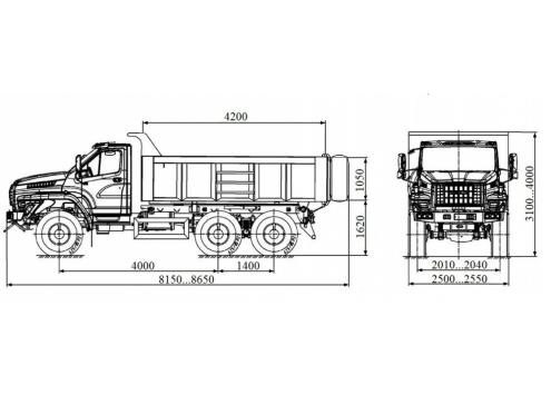 Самосвал Урал-NEXT (58312S) (Код модели: 1111)