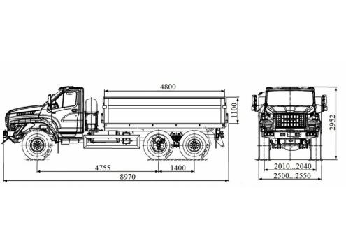 Самосвал с боковой разгрузкой Урал-NEXT (58314P) (Код модели: 1206)
