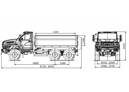 Самосвал с боковой разгрузкой Урал-NEXT (58314S) (Код модели: 1205)