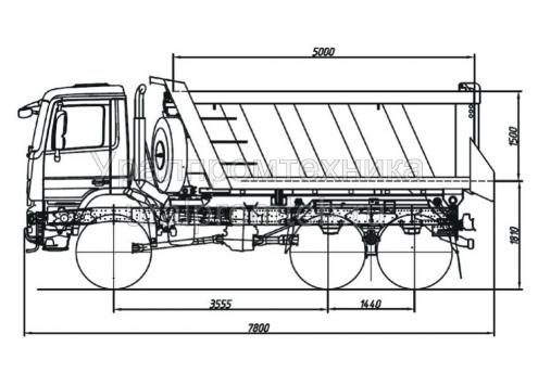 Самосвал Mercedes-Benz Actros (583158) (Код модели: 1116)