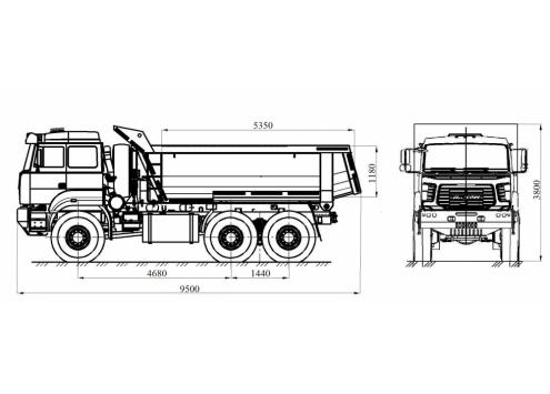 Самосвал Урал 6370 (583166) кузов ковшового типа (Код модели: 1106)
