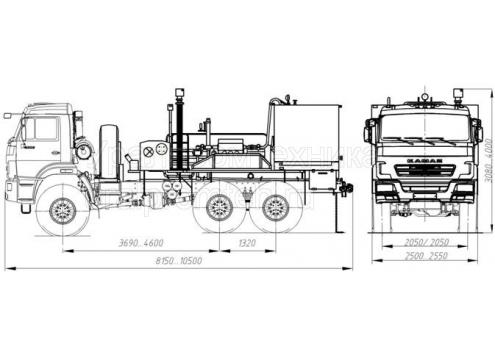 Цементировочный агрегат УНБ-125х32 (КамАЗ-43118) (Код модели: 5203)