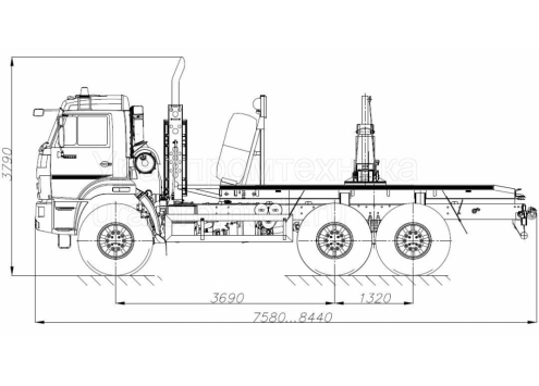 Лесовозный тягач на шасси КамАЗ-43118 (59601C) (Код модели: 4405)