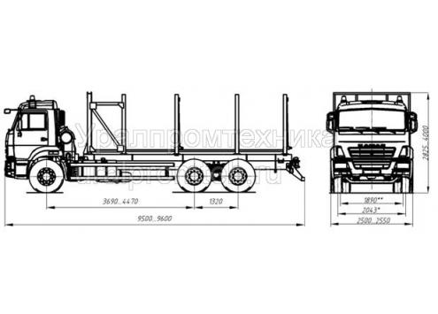 Сортиментовоз на шасси КамАЗ 65115 (59601F) (Код модели: 4803)