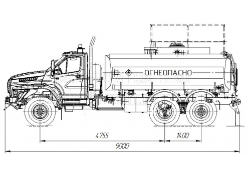Автотопливозаправщик АТЗ-10 66024P (шасси Урал-NEXT) (Код модели: 2103)