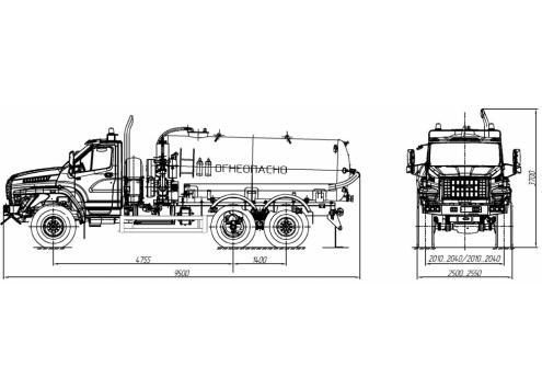 Автомобиль для сбора нефтеконденсата АКН-10 (шасси Урал-NEXT) (Код модели: 2203)