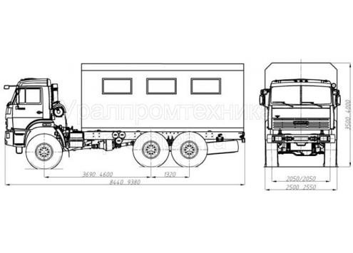 Передвижная авторемонтная мастерская ПАРМ - КамАЗ-43118 (69011A) (Код модели: 3106)
