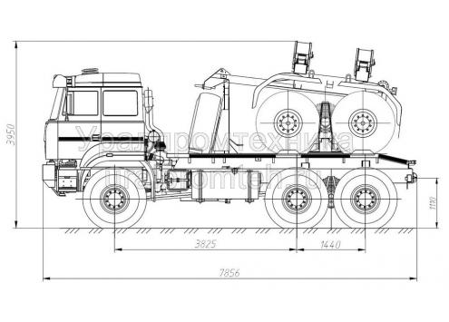 Тягач трубоплетевозный Урал-6370 (690222) (Код модели: 4104)