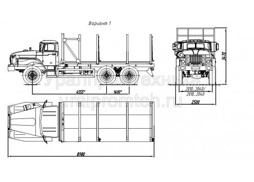 Сортиментовоз на шасси Урал 4320 (69022N) (Код модели: 4701)