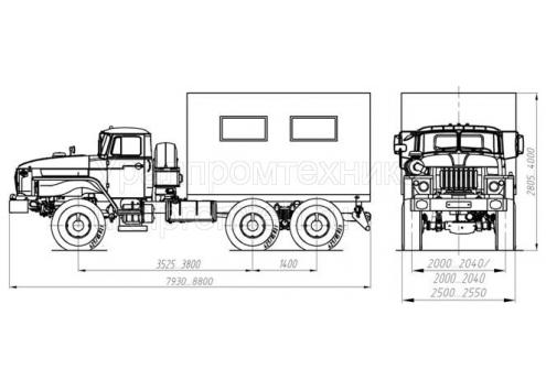 Транспортно-бытовая машина ТБМ - Урал-4320 (69022O) (Код модели: 3201)