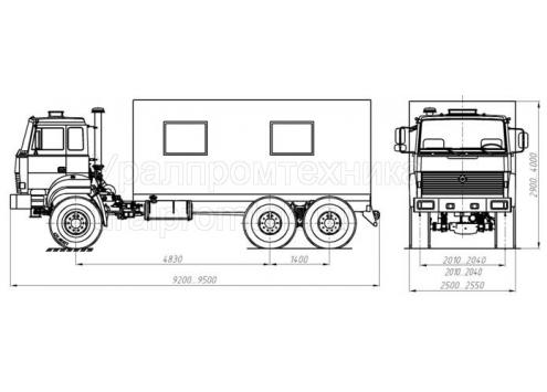 Транспортно-бытовая машина ТБМ - Урал-4320 (69022P) (Код модели: 3202)