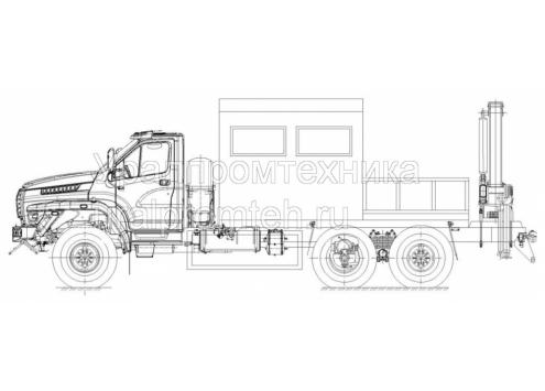 Агрегат для ремонта и обслуживания станков-качалок АРОК (Урал-NEXT, модель 69024P) (Код модели: 3303)