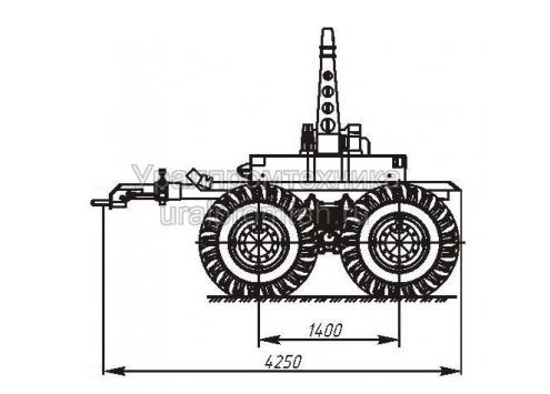 Прицеп-роспуск трубовозный с самопогрузкой труб 9047T (Код модели: 6102)