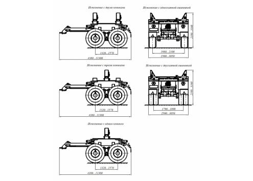 Прицеп-роспуск трубоплетевозный 904706 (20 тонн) (Код модели: 6103)