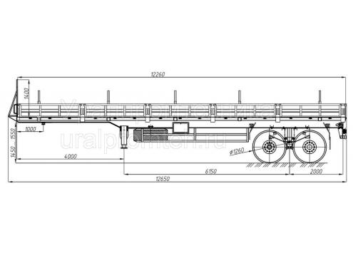 Полуприцеп бортовой усиленный (93851A) (Код модели: 6602)
