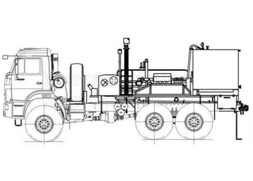 Цементировочный агрегат УНБ 125х32 КамАЗ 43118