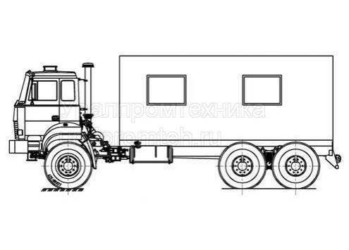 Транспортно-бытовая машина ТБМ - Урал-4320 (69022P)