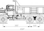 Самосвал Урал с прямоугольным кузовом (58312A)