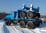 Трубоплетевоз Урал-4320 с прицепом-роспуском