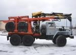 Новый лесовоз Урал 4320 с прицепом роспуском