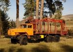 Сортиментовоз Урал 4320 с манипулятором ОМТЛ-70