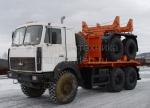 Трубоплетевоз МАЗ 6317X5 с прицепом роспуском