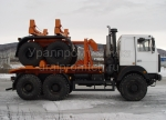 Тягач трубоплетевозный МАЗ 6317Х5 с прицепом роспуском