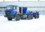 Новый газомоторный тягач трубоплетевозный Урал-6370 (6902G2)