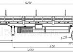 Чертеж полуприцепа бортового 27 тонн