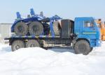 Новый газовый трубовоз Камаз-43118 с прицепом-роспуском