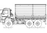 Бортовой автомобиль КамАЗ 5350 6х6