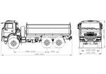 Самосвал КАМАЗ 43118 с боковой разгрузкой