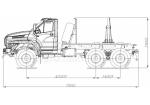 Лесовозный тягач на шасси Урал-NEXT