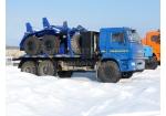 Трубоплетевозный автопоезд: тягач Камаз-43118 с ГБО с роспуском 9047T