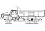 Самосвал Урал 55571 с увеличенным кузовом (58312A)