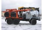 Лесовоз Урал 4320 с гидроманипулятором