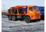 Лесовоз КамАЗ-43118 с прицепом-роспуском