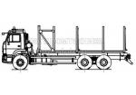 Сортиментовоз на шасси КамАЗ 65115 (59601F)