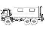 Передвижная авторемонтная мастерская ПАРМ с КМУ - КамАЗ-43118 (69011A)